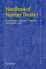(Good)-Handbook of Number Theory I: v. 1 (Hardcover)-Crstici, Borislav,Mitrinovi
