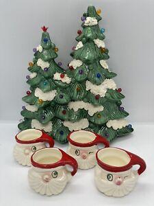 Vintage 1959 Holt Howard Winking Santa Miniature Mugs Set Of 4 Marked 1959 HH