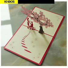 Cherry Blossom 3D Pop Up Love Greeting Card Valentine Wedding Party