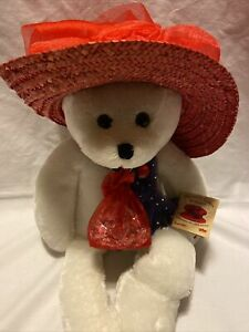 Musical Chantilly Lane Bear Summer Suzie Girls Just Want To Have Fun Red Hat