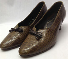 Leather Reproduction 1950s Vintage Shoes for Women