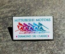 New listing Mitsubishi Motors Diamond Ski Classic Resort Travel Skiing Vintage Lapel Hat Pin