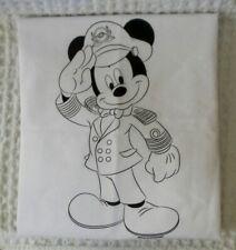 Disney Mickey Mouse Pillow Case Bedding White Black Art Design 20x30 Full Size