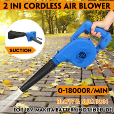 More details for 18v cordless garden leaf blower electric air vacuum snow dust lightwe for makita