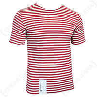 Genuine Russian OMON / MVD Telnyashka - 100% Cotton Striped Military T-Shirt New