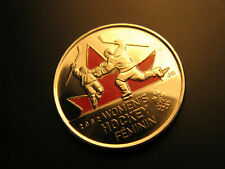 Canada  2009 Vancouver 2010 Olympics Women's Hockey  coloured 25 Cent Coin.