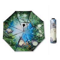 Black Ghibli Totoro Umbrella Women Anime Sun Umbrella Parasol Female Plegable