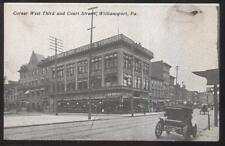 Postcard WILLIAMSPORT Pennsylvania/PA T.S. Morgan Clothing/Furniture Store  1907