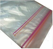 40 Resealable Heavy Duty Strong Double ZIPPER Zip Freezer Food Bags 21cm X 17cm