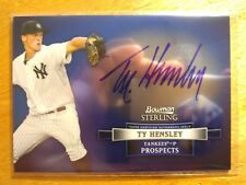 TY HENSLEY 2012 BOWMAN STERLING AUTO AUTOGRAPH ROOKIE RC NY YANKEES! -*