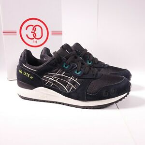 Size 10 Men's ASICS GEL-Lyte III OG Sneakers 1191A298-001 Black