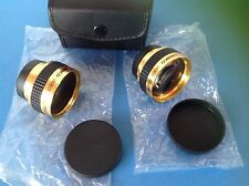 2 X JAPANESE AMBICO VIDEO WIDE ANGLE LENSES 0.5X & VIDEO TELEPHOTO 1.5X in CASE