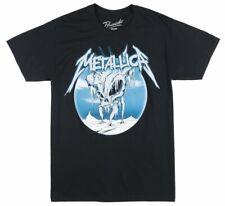 METALLICA ICE SKULL T-SHIRT BLACK MENS HEAVY METAL ROCK MUSIC TEE BRAVADO TOP
