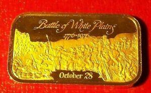 Battle of White Plains Art Bar by Fleetwood Mint 1 Troy oz. 999 Fine Silver
