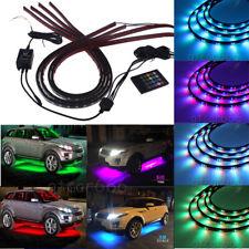 7 Color LED Strip Under Car Tube underglow Underbody Neon Lights Bar System Kit
