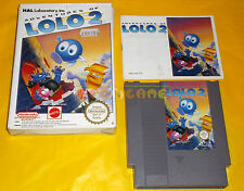 ADVENTURES OF LOLO 2 Nintendo Nes Versione Europea PAL A ○○○○○ COMPLETO
