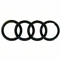 Audi Gloss Black Rings 273mm Grille Badge - A3 A4 A5 S3 S4 S5 RS3