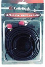 RadioShack 12 ft 3.65m Stereo AV Cable Technology Plus 15 224