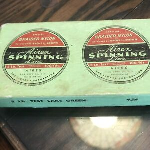 Airex Fishing Line By Lionel Corporation 2 Spools In Box Vintage 8 Lb