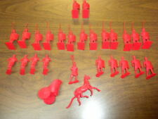 27 BIG CAESAR ROMANS AND CHARIOT red playset figures Remco 1963 LOT
