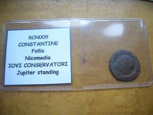 ROMAN CONTANTINE FOLLIS NICOMEDIA IOVI CONSERVATORI JUPITER STANDING