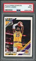 LeBron James Los Angeles Lakers 2019 Panini Donruss Basketball Card #94 PSA 9