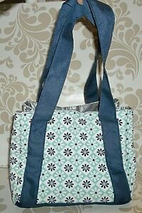 Fit & Fresh Venice Insulated Lunch Bag   Navy Patchwork       W-1