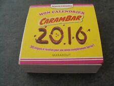 Calendrier CARAMBAR 2016 avec blagues - Déballé mais NEUF - Complet