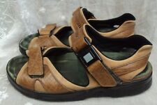 MEPHISTO Men's Sandals 10 M ~ Velcro Close / Cork Footbed  ~ Brown Leather