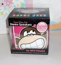 Original Bobby Jack Stereo Speakers Also For CD Players & IPod Pink NEW RARE