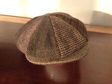 Harris Tweed Patchwork Flat Cap Baker Newsboy Hat. Glen Appin. 100% Wool. 59cm L