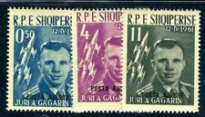 ALBANIEN 1962 647-649b ** POSTFRISCH TADELLOS SATZ SCHWARZER AUFDRUCK300€(I2571