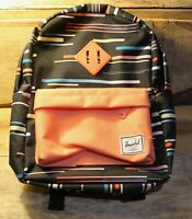 Herschel Supply Company Small Black Orange Backpack ! Very Nice