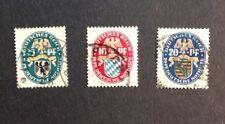 Germany 1925 VF used semi postal sc#B12-14 catalogs $22.50