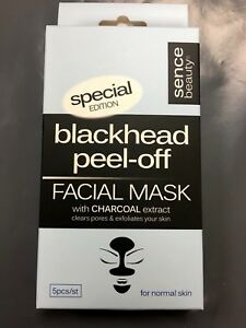 Facial Blackhead Peel off mask with active charcoal extract 5 pack Sence beauty