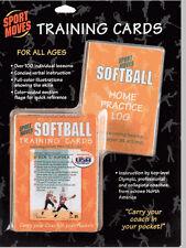 SOFTBALL training cards deck practice coach illustrated teach skills lesson aid