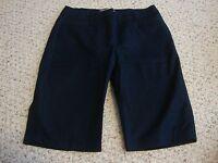 Womens LAURA ASHLEY blue bermuda stretch shorts, 6