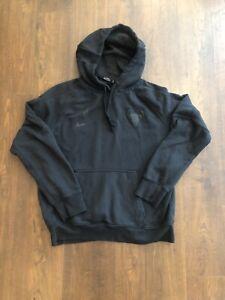 Nike Chicago Bulls Blackout Hoodie Sweatshirt Adult Large NBA Basketball Mens