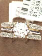 Solitaire Enhancer Jacket Diamonds Ring Guard Wrap 10k Gold Yellow Wedding Band
