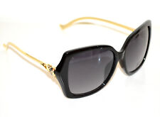 Lunettes de soleil femme NOIR or doré UV400 lentes Sun glasses  zonnebril G15