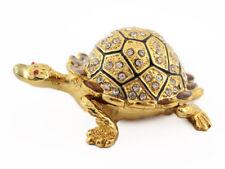 Big Sparkling Sea Turtle Fish Jewelry Trinket Box Decorative Collectible 02050