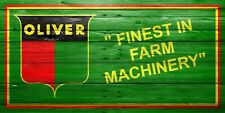 Oliver Tractor, Classic, Finest In Farm Machinery, Garage Man Cave Sign, Banner2