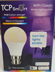 TCP Classic WiFi Smart Bulb CCT + RGB B22 16 million colours Warm whites 2700K