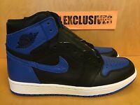"Nike Air Jordan 1 Retro I High OG ""Royal"" Blue 2017 Black White 555088-007"