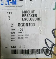 EATON CUTLER HAMMER Circuit Breaker Enclosure SGDN100 100 A Cat# 01078224345440