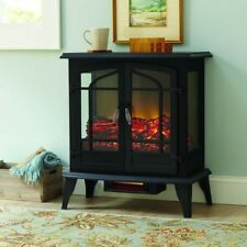 25 in. Compact Panoramic Infrared Electric Stove w/ Electronic Thermostat, Black