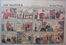 (47) Joe Palooka Sunday Pages by Ham Fisher from 1939 Half Page Size!
