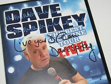 Dave Spikey Signed DVD The Best Medicine Tour   (Phoenix Nights)