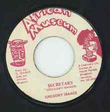 """ SECRETARY."" gregory isaacs. AFRICAN MUSEUM 7in 1983."