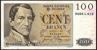 1958 Belgium 100 Francs Banknote * 9608.G.618 * aVF * P-129 *